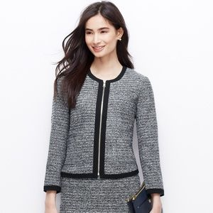 Ann Taylor Tweed Zip-Up Jacket